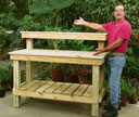 Patrick Carley with potting bench